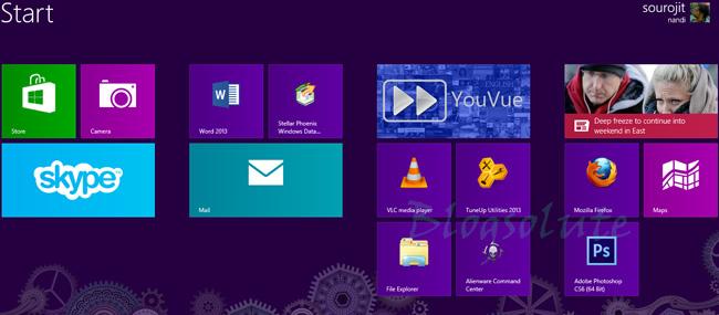 Windows 8 Homescreen Tweaks