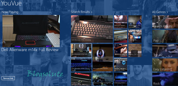 youtube metro app windows 8