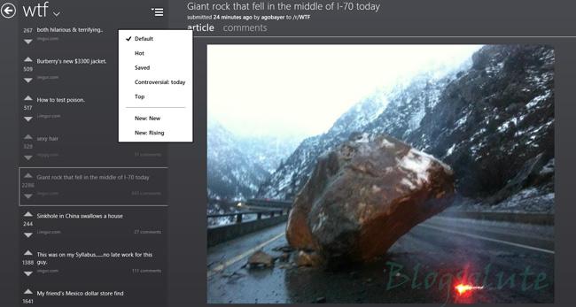 Reddit modern windows 8 apps