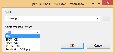 7zip split and merge