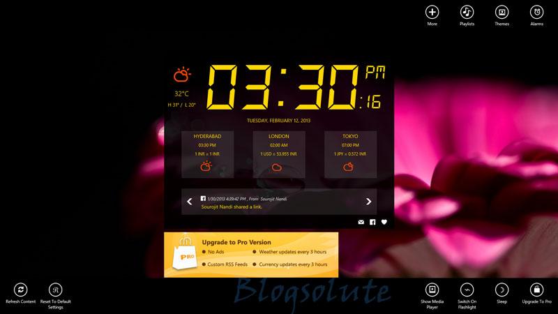 alarm clock modern app windows 8