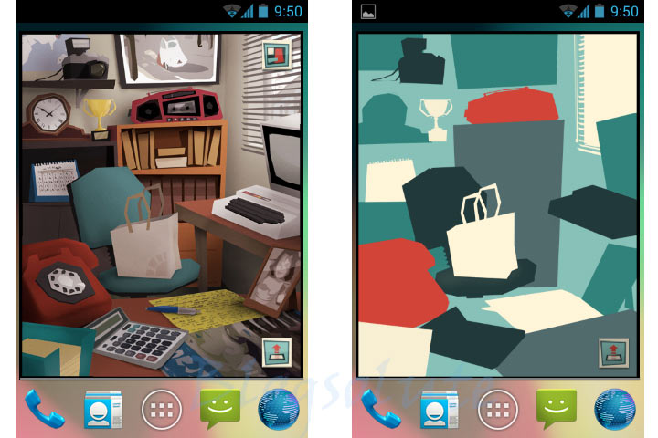 android app launching styles