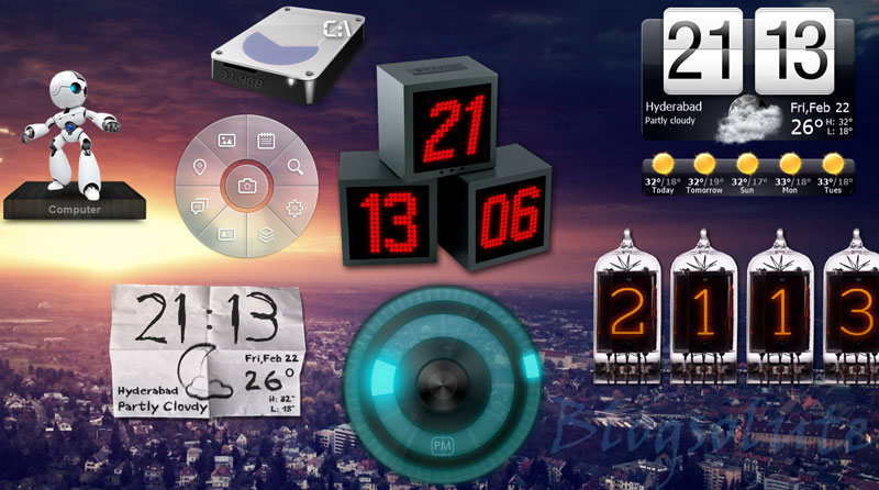 Superb 3D Clock Widgets for xwidgets on Windows Desktop