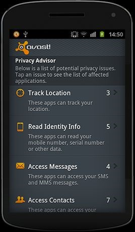 Avast android security