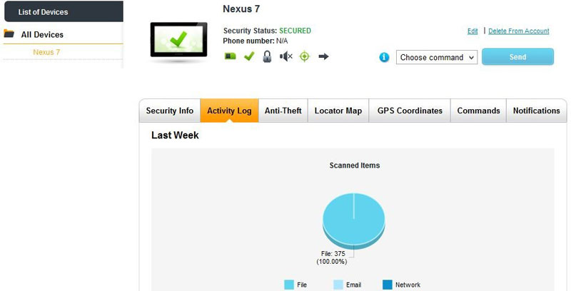Avast Mobile Security app