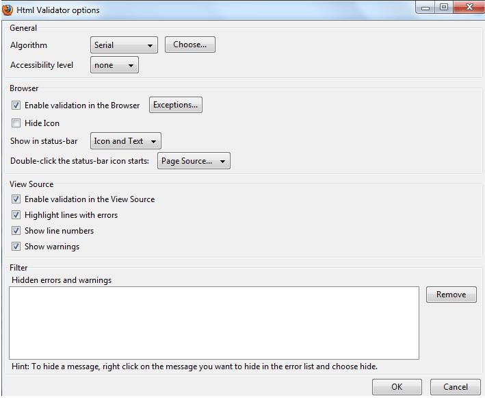html validator firefox addon