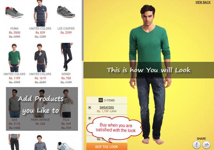 virtual trial room online shopping sites