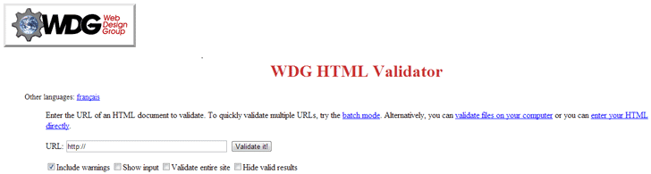 wdg html validator