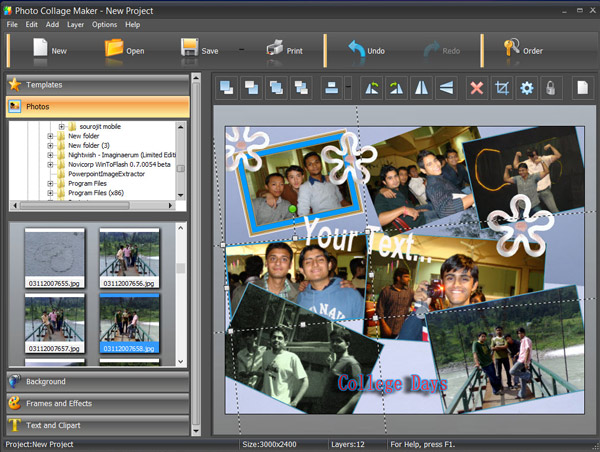 Create friend photo Collages