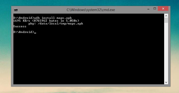 genymotion adb commands