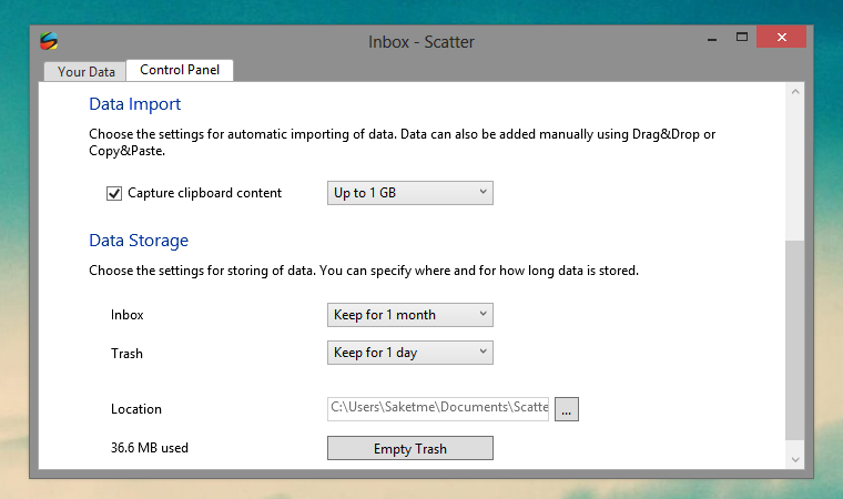 scatter control panel Scatter App Syncs Files Between Android, Windows, iOS and Mac Automagically