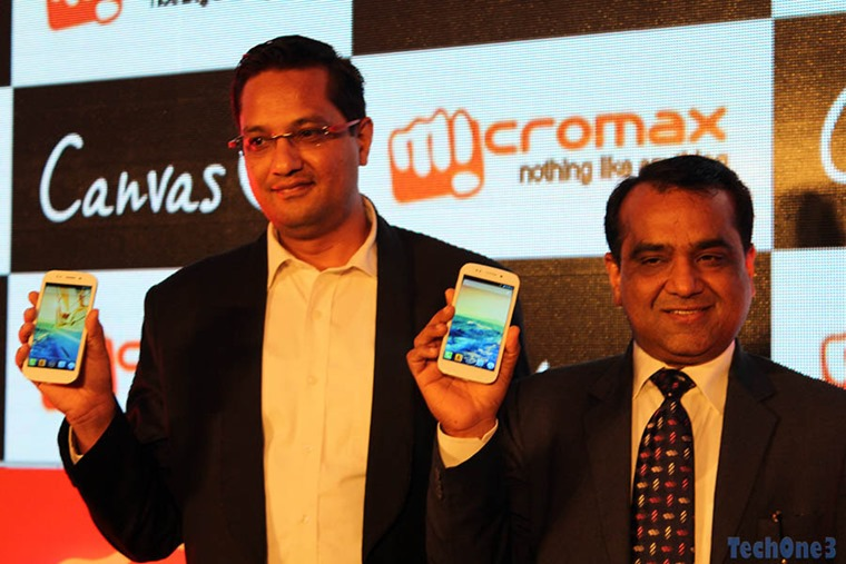 Micromax Canvas 4 launch event