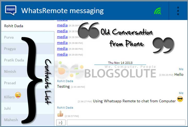 WhatsRemote Web Interface
