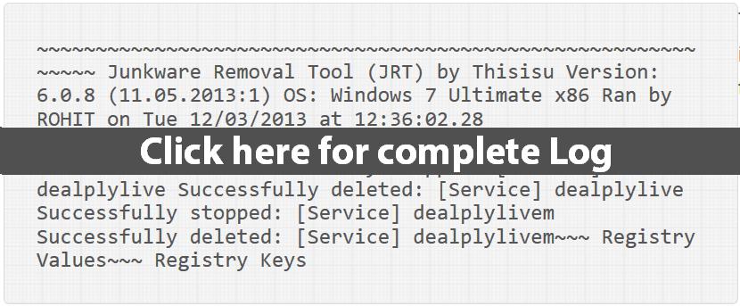 JRT Log File