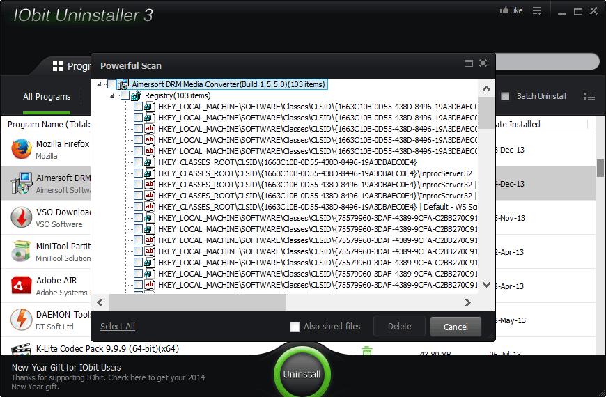 Remove Leftover files after Uninstall