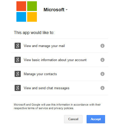 import google account to outlook