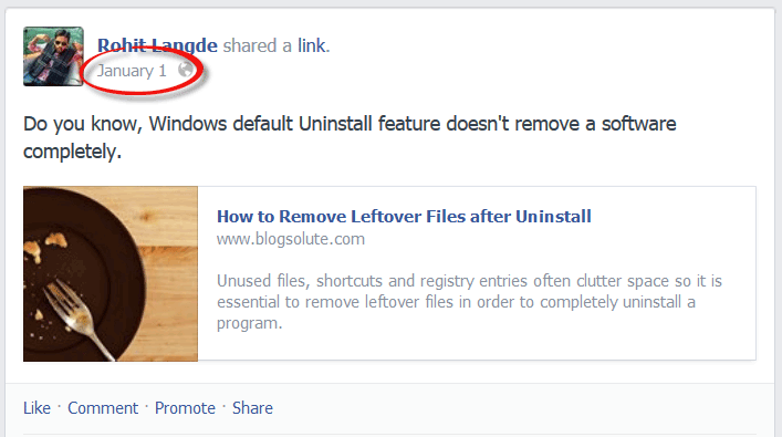 Get Link URL to Facebook Post