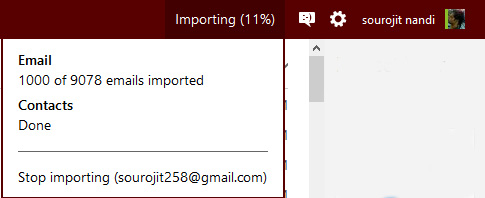 import time for gmail to outlook