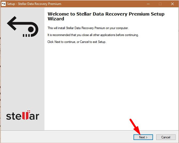 Stellar Data Recovery Installation 1