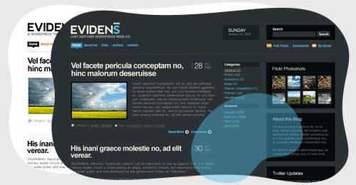 Evidens WordPress Theme by DesignDisease