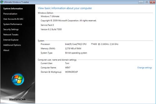 free tweak windows 7