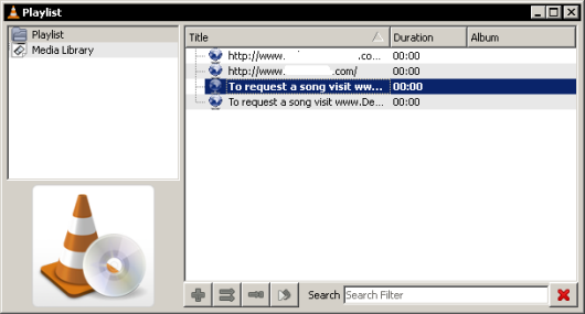 Streamiong Radio on VLC playlist