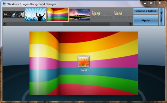 Change Windows 7 Logon Screen Background Image Changer Tool