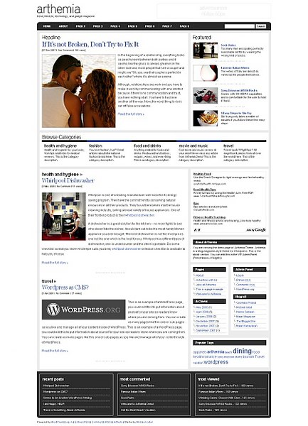 Arthemia WordPress theme